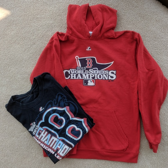huge selection of 3cded 661bf Boston RED SOX 2013 CHAMPIONS Hoodie & Tee